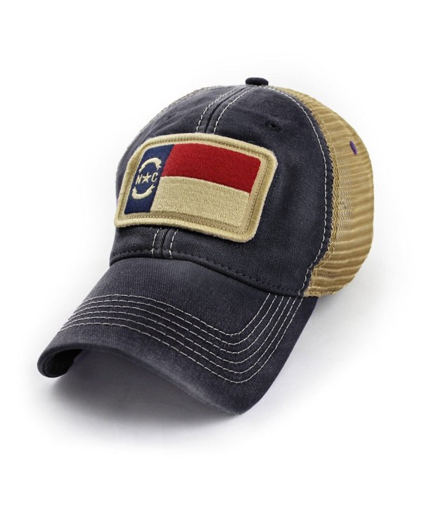 State Legacy Revival North Carolina Flag Patch Trucker Hat- Black - C412ITYVD8X