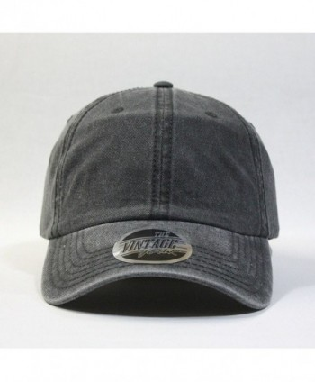Vintage Washed Adjustable Baseball Charcoal