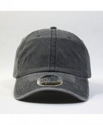 Vintage Washed Cotton Twill Adjustable Dad Hat Baseball Cap ... cf077d2d15f6