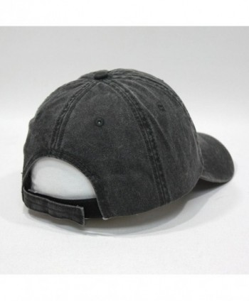 Vintage Washed Adjustable Baseball Charcoal in Men's Baseball Caps