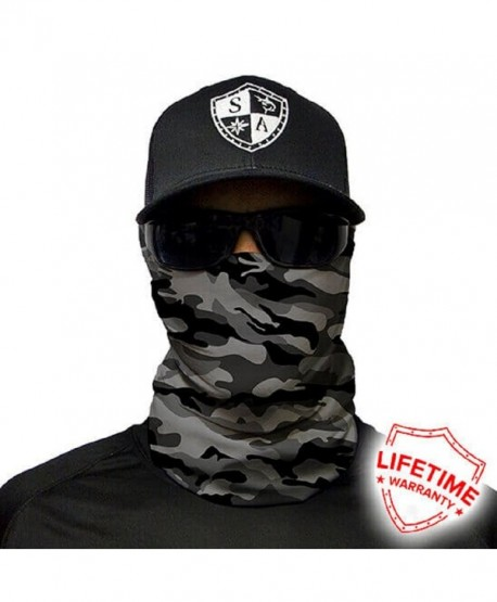 Salt Armour Face Mask Shield Protective Balaclava Bandana Microfiber Tube Neck Warmer (Grey Military Camo) - CF185X907GU
