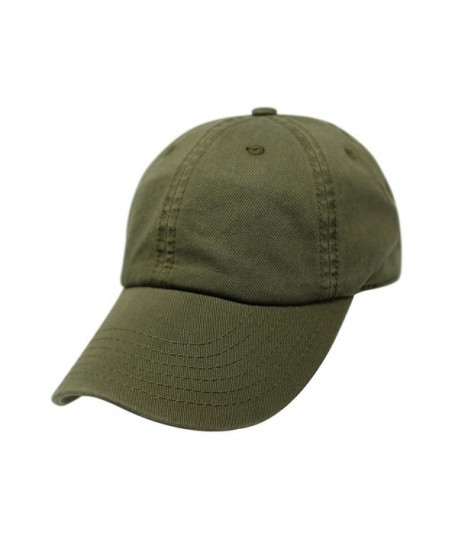 ChoKoLids Cotton Dad Hat Adjustable Blank Cap Low Profile Unstructured Polo Style - Army Green - CO189XGYHUI
