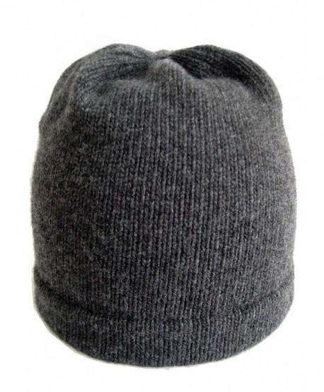 Frost Hats Luxurious Cashmere Beanie Soft Mans Hat CSH-059 - Charcoal - C711UIQUGVV
