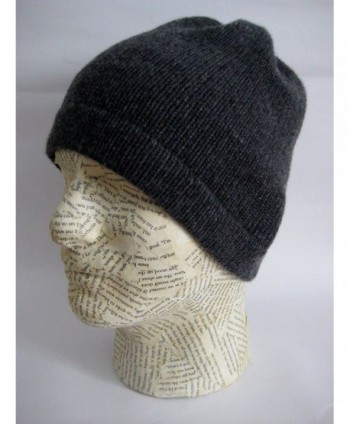 Frost Hats Luxurious Cashmere Charcoal in Men's Skullies & Beanies