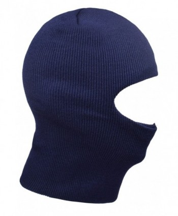 JIERKU Outdoor Beanie Face Mask Windproof Knit Balaclava Ski Warm Winter Mask for Men - Navy - C2186GLA767