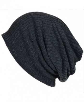 Men Women Stripe Baggy Gray Beanie Hip-hop Skullcap B011sw - CP11M405ZKB