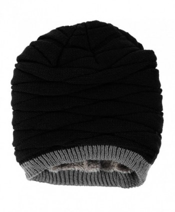 Novawo Thicken Fleece Lining Slouchy in Men's Skullies & Beanies