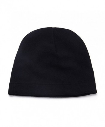Opromo Men's Fleece Hat Lightweight Soft Warm Winter Beanie Skull Cap - Black - CP187HYUZSU