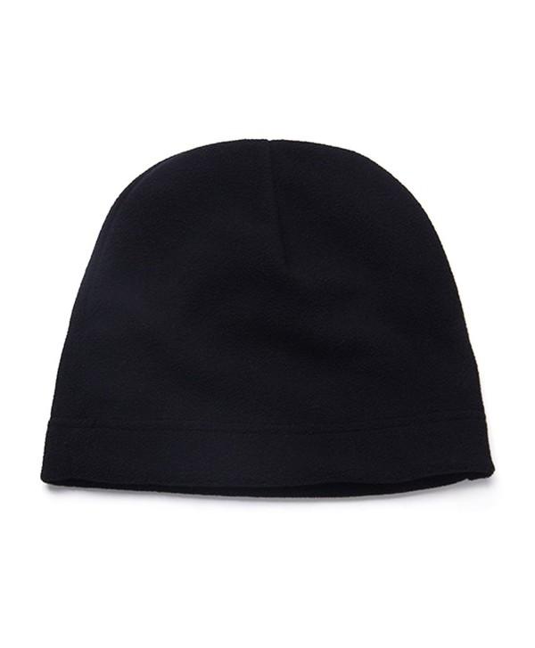 Opromo Men's Fleece Hat Lightweight Soft Warm Winter Beanie Skull Cap - Black - CP187HYUZSU