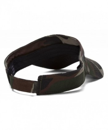 Woodland Camo Blank Adjustable Visor