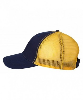 Team Sportsman ''The Duke'' Washed Trucker Cap - Navy/ Gold - CH11FZLY4W1