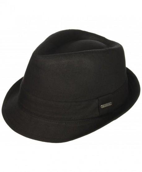 89cf0f400be2d Van Heusen Men s Twill Herringbone Fedora Hat- Lightweight - Black -  CO184T546QR