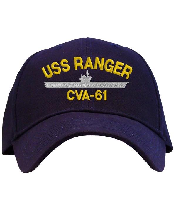 USS Ranger CVA-61 Embroidered Baseball Cap - Navy - CV11FVIJDSX