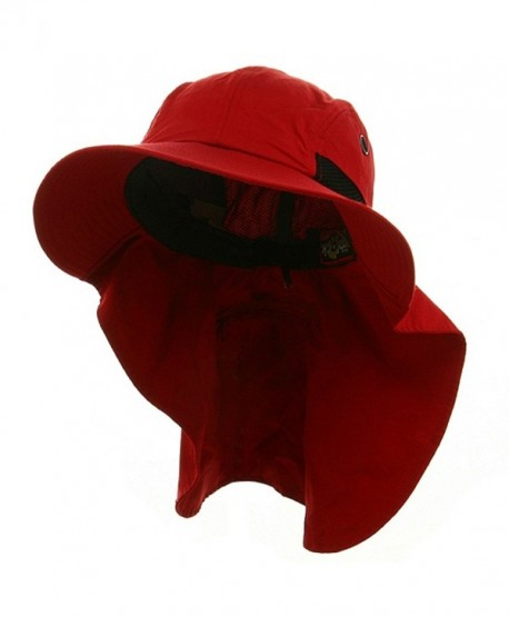 Big Size UV 45+ Extreme Condition Flap Hat - Red - CI111C6HUUL