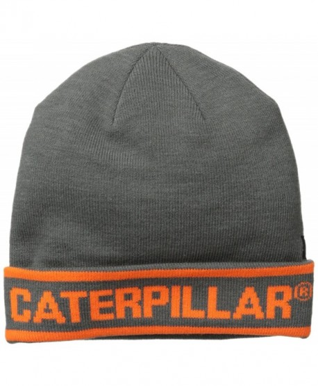 Caterpillar Men's Stand-Out Knit Cap - Dark Heather Grey - CP11LUA977R