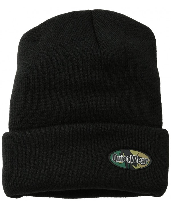 Quietwear Men's Rufftuf 4 Layer Cuff Cap - Black - CK116A9DD5Z