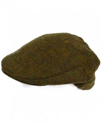 Mens Shooting / Flat / Peak Cap. 100% Pure Wool. Made in Irish Woolen Mill. Green Moss - CU11NIWJ1UT