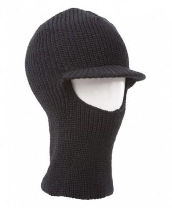 Face Ski Mask w/ Visor - Black - CQ11B18H2FN