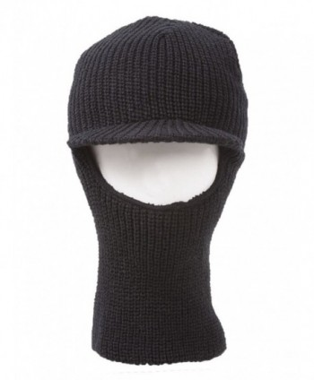 Face Ski Mask Visor Black