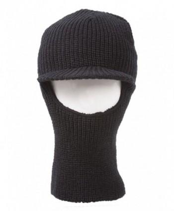 Face Ski Mask Visor Black