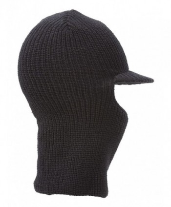 Face Ski Mask Visor Black in Men's Balaclavas