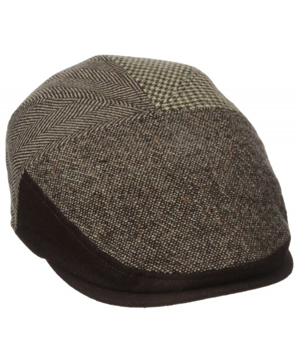 Dockers Men's Ivy Newsboy Hat - Deep Brown - CZ12I4SKR5T