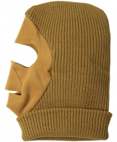 Quietwear Men's Knit Fleece Facemask - Duck Brown - C411FC5VOC3