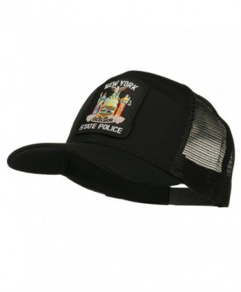 New York State Police Patched Mesh Back Cap - Black - CB11ND5873X