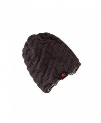 YOUCOO Beanie Hat For Men and Women Winter Warm Hats Knit Slouchy Thick Skull Cap - Dark Gray - CS188OZS928