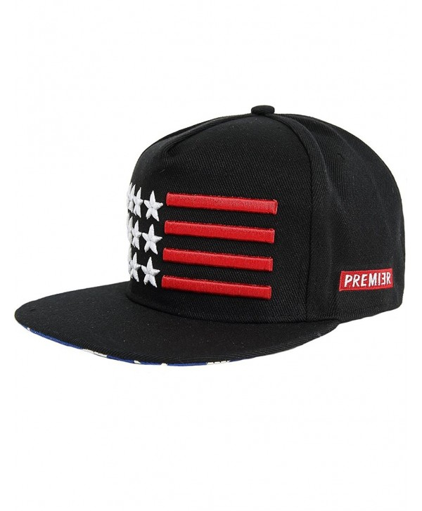SSLR Men's Star Custom Embroidered Patch Flat Bill Caps - Black - CQ11KZVFZGZ