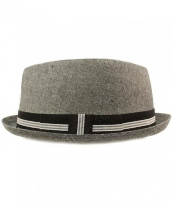 2d14b02f55d SK Hat shop Mens Everyday Cotton All Season Porkpie Boater Derby Fedora Sun  Hat Clothing