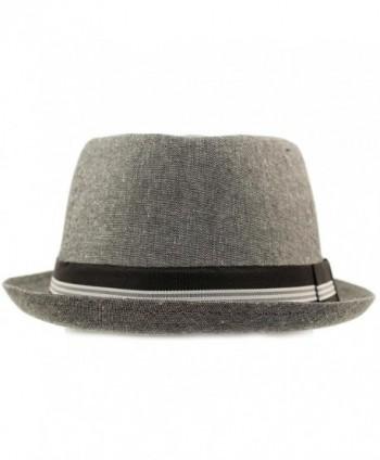 c65d692b Men's Linen Cotton Light Tweed Porkpie Derby Fedora Musician Jazz ...