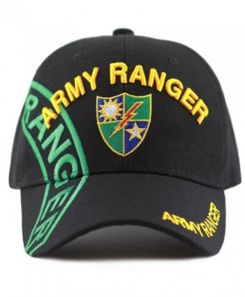 The Hat Depot Official Licensed Army Ranger Baseball Cap - Black - C5185XI7QD4