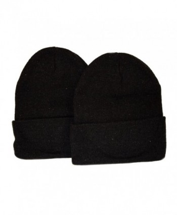 Great Deals! 2 Pack Knit Beanies / Black - CO110PFRME9