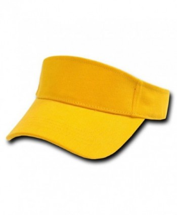 GOLD YELLOW ADJUSTABLE SUN GOLF TENNIS VISOR CAP CAPS HAT HATS - CO112ETVH31