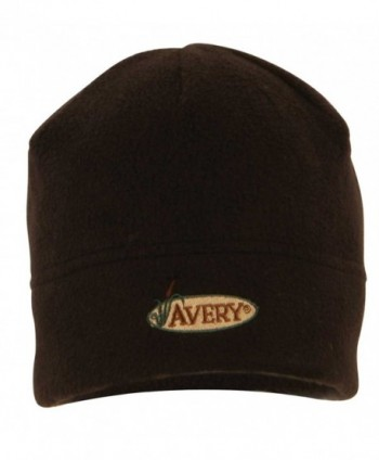 Avery Greenhead Gear GHG- Fleece Skull Cap Hat w/Avery Logo - Black - CG112CAH1BD