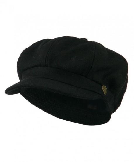 Wool Solid Spitfire Hat - Black - CP11I67M103