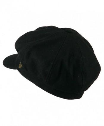 Wool Solid Spitfire Hat Black