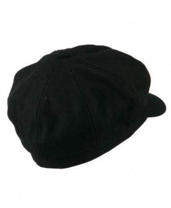 Wool Solid Spitfire Hat Black in Men's Newsboy Caps