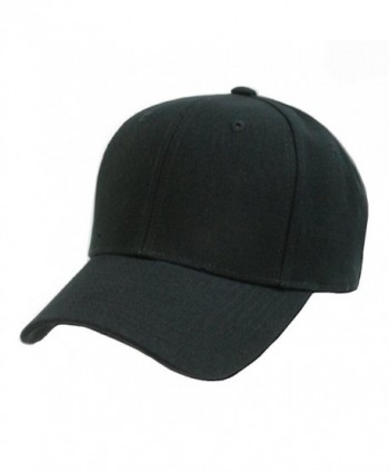 Decky 2 Pack Plain Solid Fitted Baseball Cap Black / White (8 Sizes Available) - CQ110FN40WX