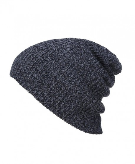 Perman Winter Unisex Beanie Hat Slouchy Baggy Knit Ski Cap - Black - C112O4T7IBA
