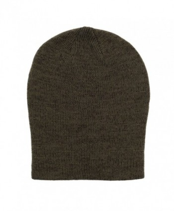 FUNKY JUNQUE s CC Men s Marled Knit Slouch Beanie - Skull Winter Hat -  Olive - CT128KEXM2H  H 6734 33 Mens Marled Slouch Beanie df0e4e3865c