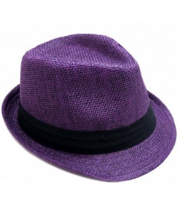 Hemantal Classic Lightweight Fedora Purple