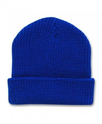 Decky 12 Inch Long Knit Watch Cap Beanie (One Size- Royal Blue) - CU110H03OR1