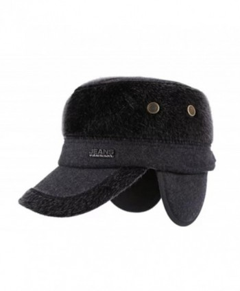 69d6a5956ac Available. WETOO Men s Winter Woolen Tweed Peaked Baseball Cap Hats With  Fold Earmuffs ...