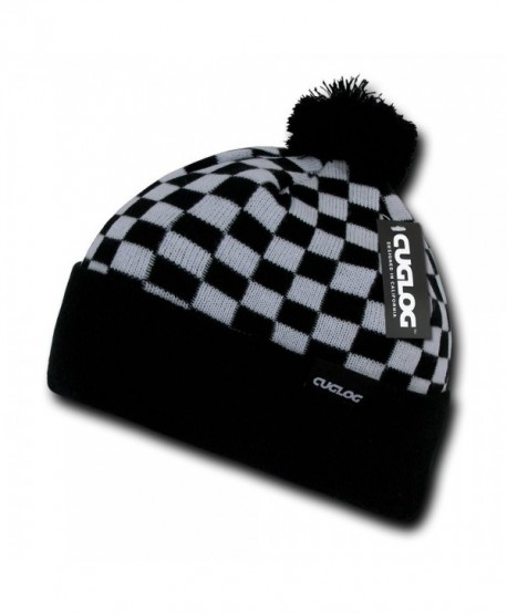 CUGLOG Changbai Checker Beanie - White/Black - CT11QDUAD5T