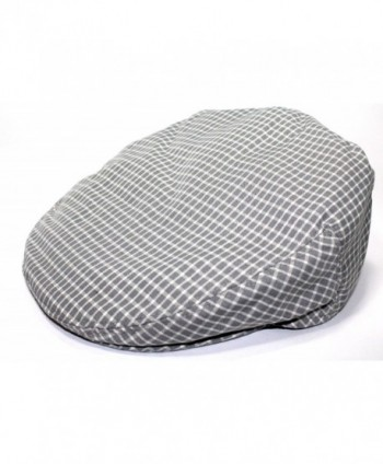 Mens Plaid Golfing Beret Summer Flat Ivy Driving Cabbie Cap Hat Ivy Newsboy - Grey Window Check - CJ11UCVXCJF