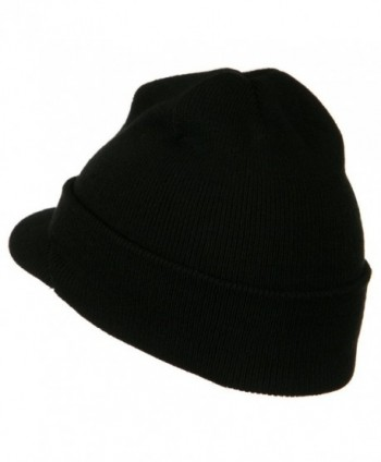 Cuff Knitted Beanie Visor Bill