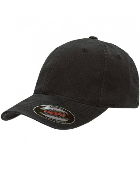 Flexfit Low-Profile Soft-Structured Garment Washed Cap w/THP No Sweat Headliner Bundle Pack - Black - C6185IHEZYT