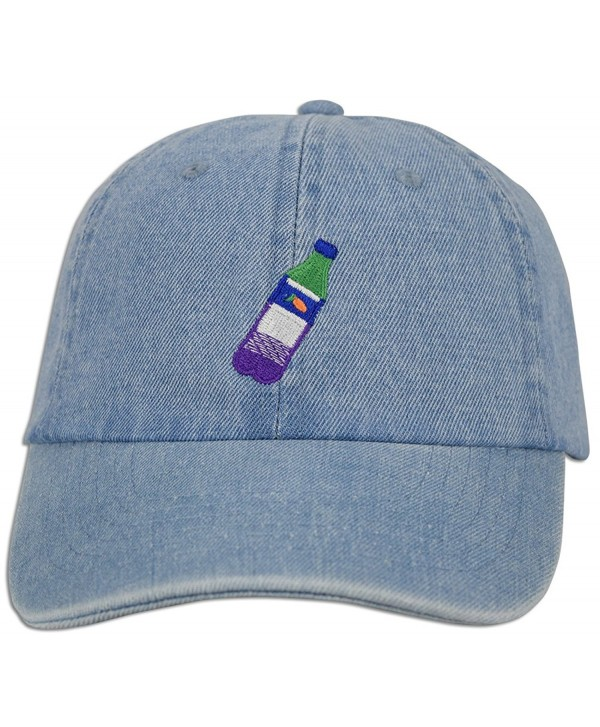 JLGUSA Lean Codein Dirty Sprite Emoji Memes Embroidered Dad Hat Baseball Cap Adjustable - Lt. Blue Denim - C2183YY5CY2
